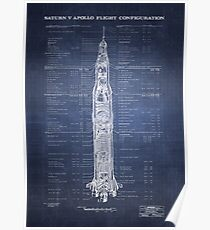 Apollo Saturn V (HighRes) blueprint Poster