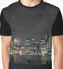 #Port, #crane, #ship, #industry, #sea, #cargo, #harbor, #dock, #shipping, #industrial, #night, #container, #water, #transportation, #transport, #cranes, #boat, #sky, #harbour, #nightlight, #reflection Graphic T-Shirt