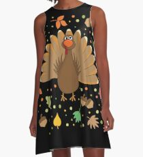 Thanksgiving Turkey A-Line Dress