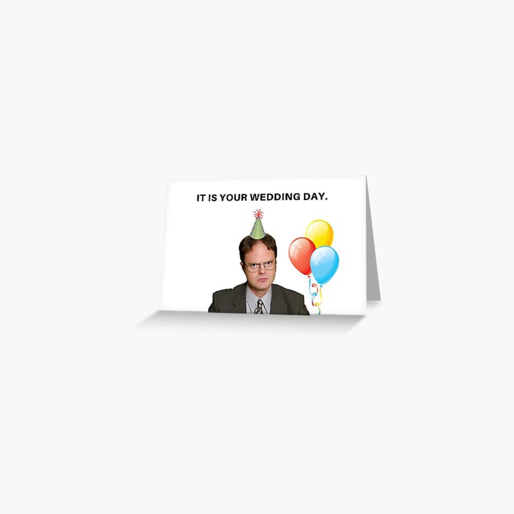 Die Office Show, Hochzeitstagskarte, Meme Grußkarten Grußkarte