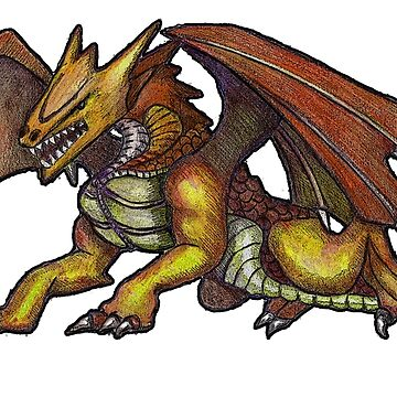 Dragon, Fantasy Art, Mythical Creature, Drawing by Joyce