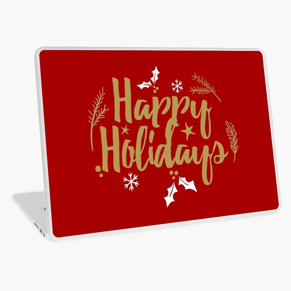 Happy Holidays Laptop Folie