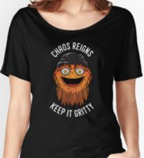 Chaos Reigns Keep It Gritty Women's Relaxed Fit T-Shirt