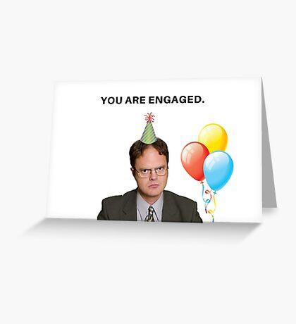 La tarjeta de programa de televisión de Office, Tarjeta de compromiso divertida, Tarjeta de felicitaciones, Tarjeta de pareja, Tarjeta de Office, Tarjeta de programa de TV, tarjetas de felicitación de meme Tarjeta de felicitación