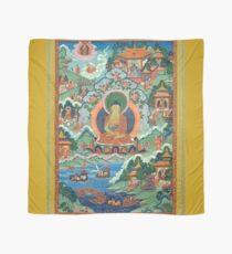 Thanka with Buddha (Restauriertes tibetisches Kunstwerk) Tuch