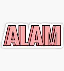 alpha love and mine Sticker