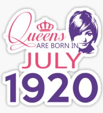 It's My Birthday 98. Made In July 1920. 1920 Gift Ideas. Sticker