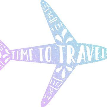 Time to travel. Gradient plane by kondratya
