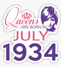 It's My Birthday 84. Made In July 1934. 1934 Gift Ideas. Sticker