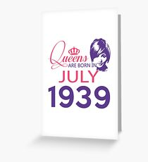It's My Birthday 79. Made In July 1939. 1939 Gift Ideas. Greeting Card