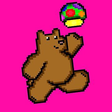 8-Bit Bear Pattern by BearlyGoin