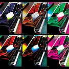 Piano Artwork Artsy Colors by Jerald Simon (Music Motivation - musicmotivation.com) by jeraldsimon