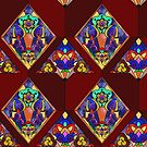 Stained Glass Flowers by AgentBoss
