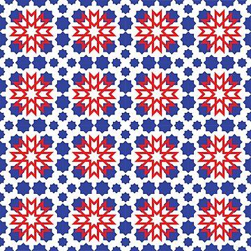 Geometric Pattern - Oriental Star Design  by ohaniki