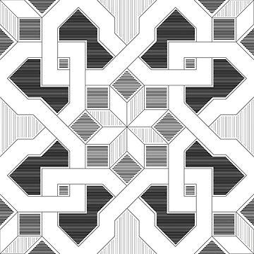 Oriental Pattern - Geometric Design - lines by ohaniki