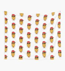 c5ac144a347 Funny Chicken Nugget Gangster Nug Life Wall Tapestry