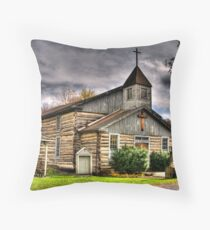 CHURCH IN OLD BEDFORD VILLAGE Throw Pillow