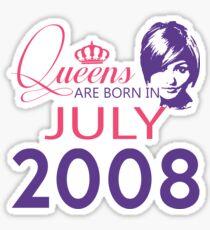It's My Birthday 10. Made In July 2008. 2008 Gift Ideas. Sticker