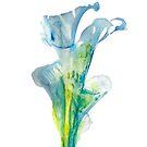 blue lucky flower by ozgunevren