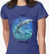 SPOTTED BOTTLENOSE DOLPHIN A Womens Fitted T-Shirt