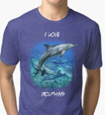 SPOTTED BOTTLENOSE DOLPHIN B Tri-blend T-Shirt