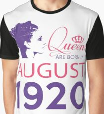 It's My Birthday 98. Made In August 1920. 1920 Gift Ideas. Graphic T-Shirt