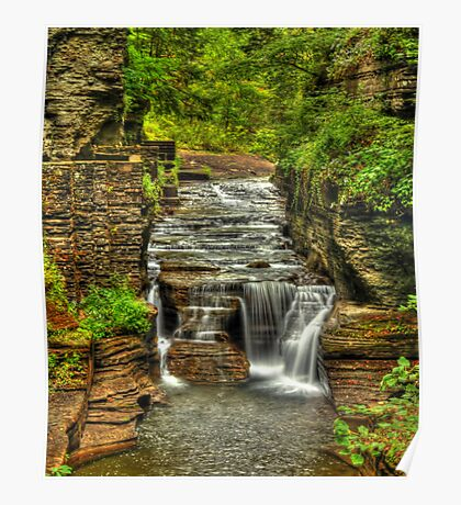 Treman Falls Poster