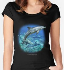 SPOTTED BOTTLENOSE DOLPHIN D Women's Fitted Scoop T-Shirt