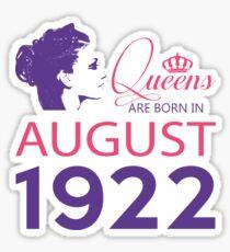 It's My Birthday 96. Made In August 1922. 1922 Gift Ideas. Sticker