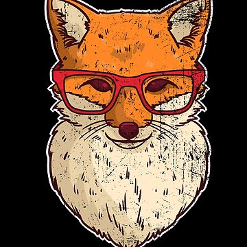 Red Fox Nerd forest animal by ShirtMeUp