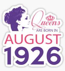 It's My Birthday 92. Made In August 1926. 1926 Gift Ideas. Sticker