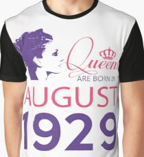 It's My Birthday 89. Made In August 1929. 1929 Gift Ideas. Graphic T-Shirt