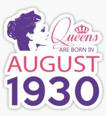It's My Birthday 88. Made In August 1930. 1930 Gift Ideas. Sticker