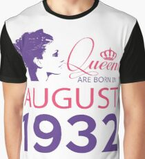 It's My Birthday 86. Made In August 1932. 1932 Gift Ideas. Graphic T-Shirt