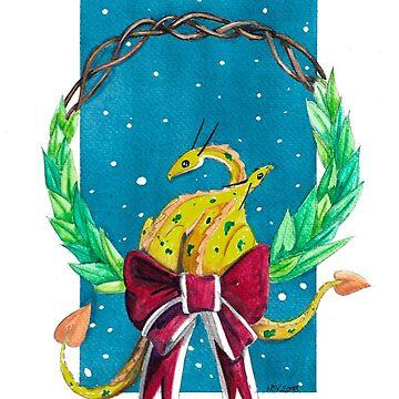 Christmas Card - Dalmatian Dragons by StudioColrouphobia