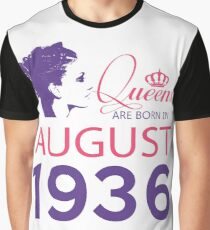 It's My Birthday 82. Made In August 1936. 1936 Gift Ideas. Graphic T-Shirt