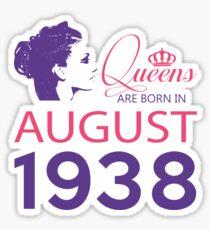 It's My Birthday 80. Made In August 1938. 1938 Gift Ideas. Sticker