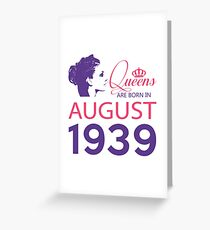 It's My Birthday 79. Made In August 1939. 1939 Gift Ideas. Greeting Card