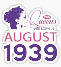 It's My Birthday 79. Made In August 1939. 1939 Gift Ideas. Sticker