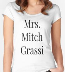 Mrs. Mitch Grassi Women's Fitted Scoop T-Shirt