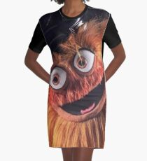 """Flyers New Mascot """"Gritty"""" Graphic T-Shirt Dress"""
