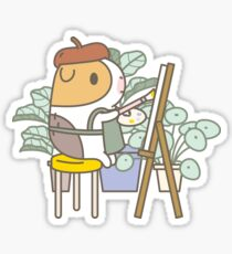 Bubu the Guinea Pig, Painter  Sticker
