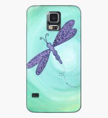 purple dragonfly Case/Skin for Samsung Galaxy