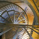 Fire Tower No. 23 in Cape May, NJ - Looking Down by MaryinMaine