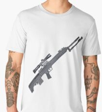 QBU 88 Sniper Rifle Men's Premium T-Shirt