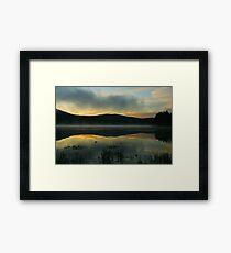 Mist on Georgetown Lake Framed Print