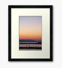 Italian sunset Framed Print