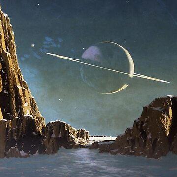 Saturn from Titan by Destructor1123