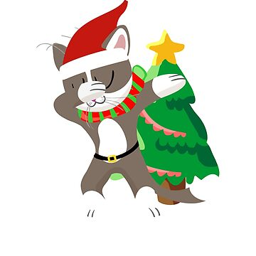 Dabbing Cat Christmas Tree - Santa Hat Mashup - Holiday Dance Party by SuckerHug