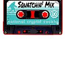 Old School Tape Squatchin' Mis (Bigfoot Sasquatch) by NationalCryptid